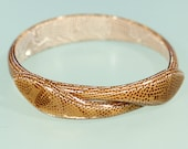 Vintage 80s Snake Bangle Plastic revival French Jewelry