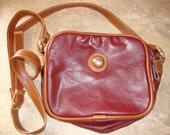 Vintage Capezio Shoulderbag, Purse, Oxblood Red and Brown Leather