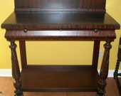 Antique Pier Table with Carved Acanthus Leaves and Paw Feet
