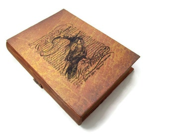 Nevermore Raven Book Box Drawer