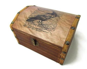 Nevermore Raven Wooden Chest