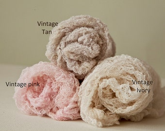 Fluffy Textured 4 foot open weave 100% cotton Newborn Wrap Swaddle Wrap+FREE headtie, Baby Wrap, fluffy open weave, all cotton, 10+ colors