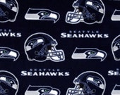 Seattle Seahawks Large Double Fleece Throw Blanket