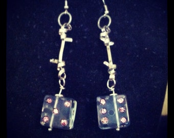The Lucky Dice Dangle Earrings