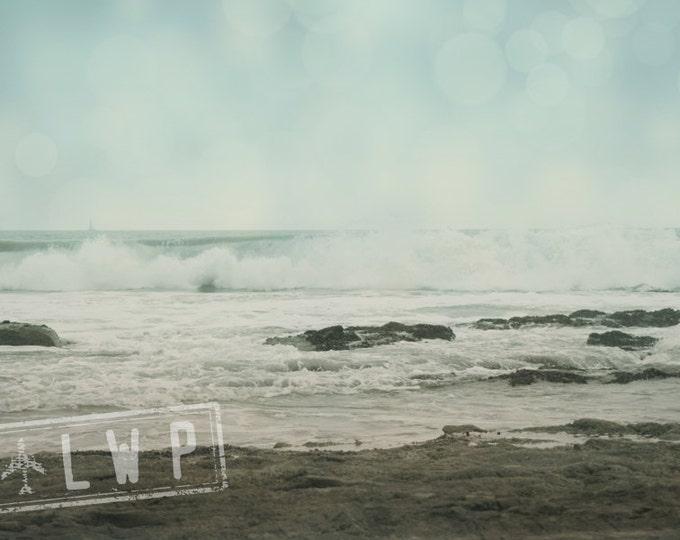 California Beach House Decor, Coastal Landscape Decor, Pacific Ocean Tide Rising - 4 sizes available