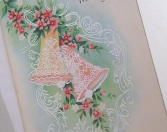 Vintage Greeting Card Wedding Day 60s NOS Sunshine card