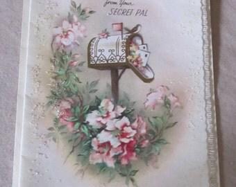 Vintage Greeting Card Secret Pal Valentines 60s