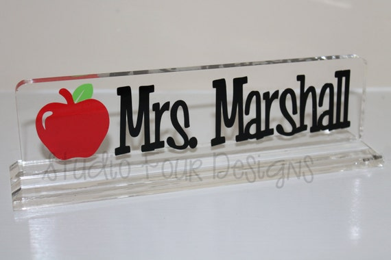 personalized teacher desk nameplate office by