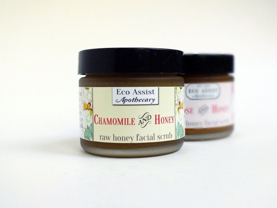Organic Face Wash Face Scrub With Chamomile and Raw Honey 2oz