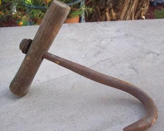 Hand Forged  Hay Hook  Mid Century Farm Tool  Mid Century Hay Hook