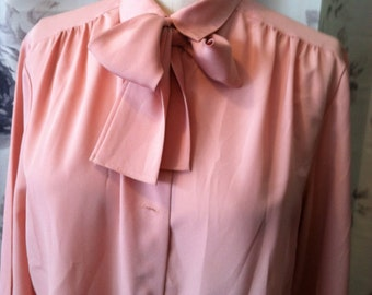 Retro work blouse pink size 12