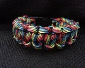 Dark Rainbow Paracord Bracelet