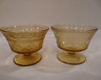 Patrician Spoke Sherberts Federal Glass Vintage