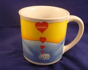 No Place Like Home Take Heart Mugs 1983 Collectible Coffee Tea Cocoa Mug Wallace Berrie