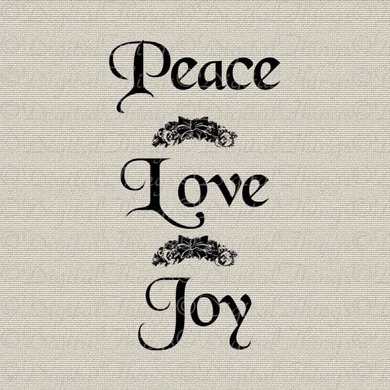 Christmas Peace Love Joy Typography Holiday Decor Wall Decor Printable Digital Download for Iron on Transfer Fabric Pillows Tea Towels DT428