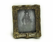 Witch with Wand Framed Photo 1-inch scale Dollhouse Miniature