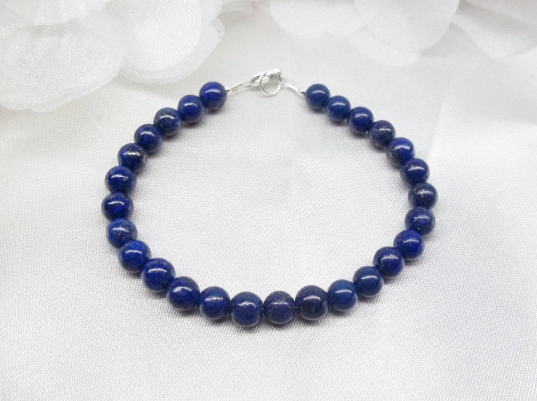 lapis bracelet blue lapis lazuli strand bracelet simple 100. Black Bedroom Furniture Sets. Home Design Ideas