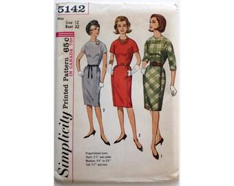 Dress Sixties Dress Shirtwaist Simplicity 5142