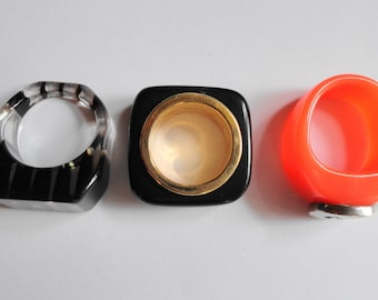 Fun group of lucite rings