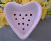 Vintage Heart Mold Cheese Strainer 5251