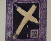 CANVAS PAINTING Acrylic Canvas Cross Art original Painting Mixed Painting Textured Painting Alchemy Spiritual Art