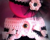 Fancy Diaper Cover Set headband and cover made to order other colors too