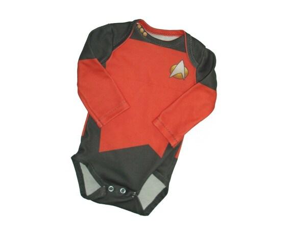 Space Captain Baby Onesie Star Trek Next Generation Tng