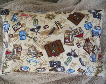 Vacation Travel Pillow 12 x 16 Pillowcase