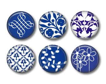 China Blue button badges or fridge magnets
