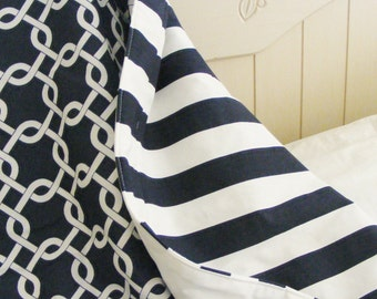 Nautical Reversible  tODDLER Bedding -Blanket- Quilt Many Choices Nautical
