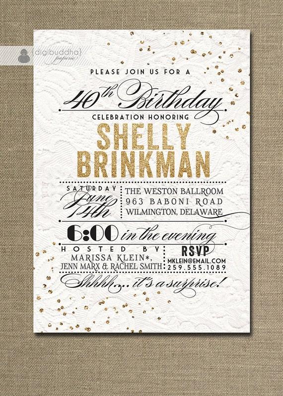 Golden Birthday Invitations as beautiful invitation ideas