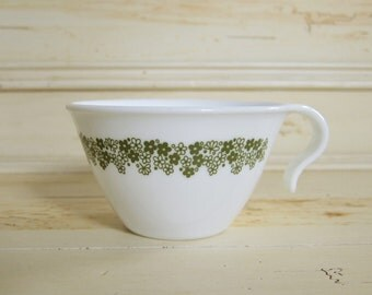 Spring Blossom Teacup Corelle Livingware Vintage Crazy Daisy Green Flowers Tea Cup