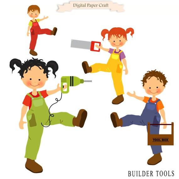 Building Tools Clipart, Builder Clipart, Workman Clipart ...