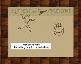 Funny, Humorous Birthday Card - prehistoric