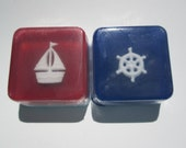 Sailboat Ship and Ships Wheel Favors for Nautical baby shower