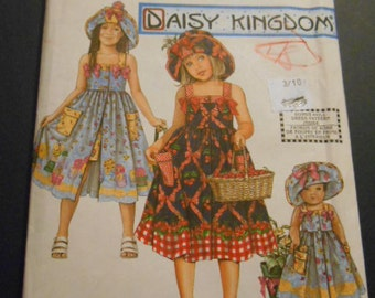 Simplicity 8145, Daisy Kingdom, Sundress, size 3-4-5-6, Doll dress tpo!