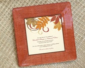 Personalized wedding gift  / Fall Wedding / Unique Wedding Gift / For Couples / Wedding Invitation Plate / Wedding Invitation