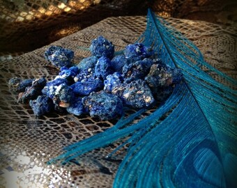 "Egyptian Azurite ""Stone of Heaven"" gem quality specimen - Psychic awareness & Priestess energy"