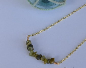 Seashell Jewelry … Simple Stone Necklace (0950)
