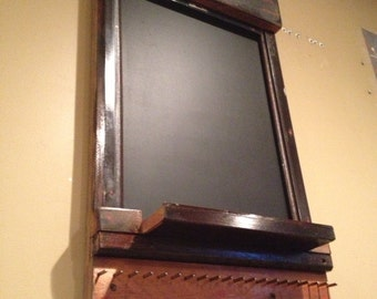 Upcycled Chalkboard and Hooks Using Vintage Piano Parts and Wood