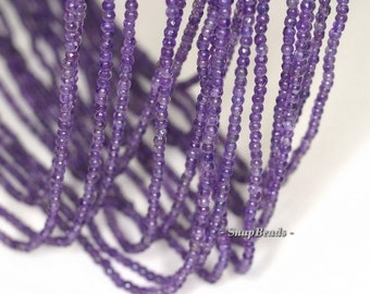 2mm Royal Amethyst Gemstone Grade AAA Deep Purple Faceted Round Loose Beads 15.5 inch Full Strand (90143440-107-2g)