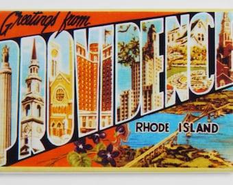 Greetings from Providence Rhode Island Fridge Magnet