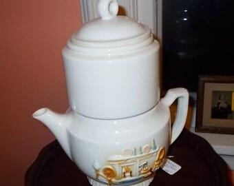 Porcelier Vitreous China Drip Coffee Pot Teapot Hearth