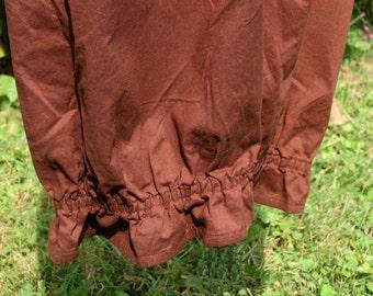 Renaissance Bloomers -  Medium - Dark Brown Country Cotton