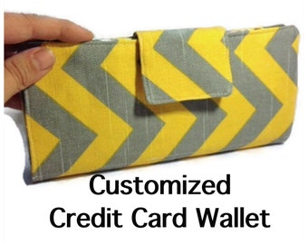 Women's Card Wallet, Bifold Card Holder, 38 Credit Card Holder, Loyalty Card Organizer, Chevron Card Wallet, Women's Card Wallet