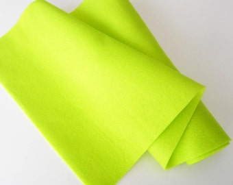 Lime Green Felt, 25x90cm