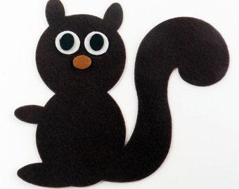 Felt shapes, Felt Squirrel, set of 4 pieces