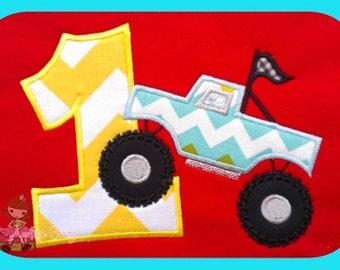 Monster truck Applique Number One design