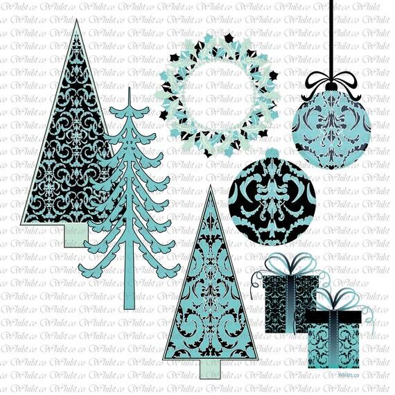 Christmas clip art, Christmas tree digital scrapbooking, clipart ...