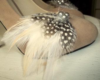 Wedding Shoe Clips, Feather Shoe Clips, Black, White, Ivory, Bridal Wedding, Womens, Girls, Gift Ideas
